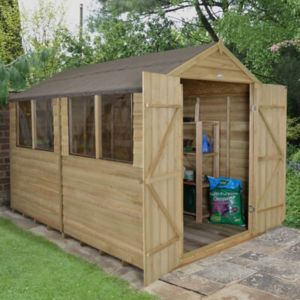 8X10 Forest Reverse Apex Overlap Wooden Shed Review thumbnail
