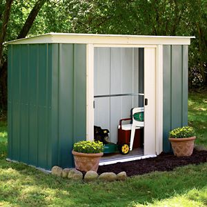8X4 Greenvale Pent Metal Shed with Assembly Service Review thumbnail