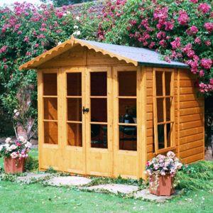 7X7 Kensington Shiplap Timber Summerhouse with Toughened Glass Review thumbnail